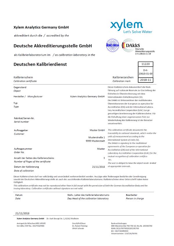 Akkreditierte Kalibrierung nach DAkkS Vorgaben